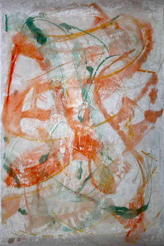 large monotype #4, encaustic, paper, 20x30, $$0.0000