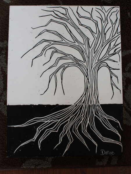 black/white tree